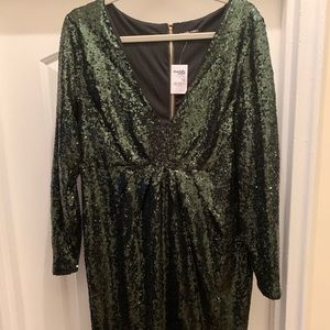 Emerald Green Holiday Party Dress
